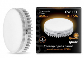 Лампа Gauss LED GX53 6W 2700K 108008106