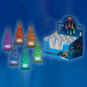 Набор из 12 Елей световых (10 см) ULD-F620 RGB XMAS TREE SET12